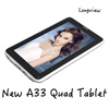 New product A33 Quad Core android Tablet 7 inch Android 2G Tablet with Webcam WIFI bluetooth Android Tablet