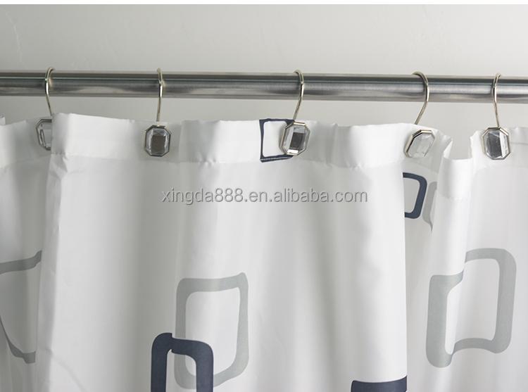 Pak van stuks witte acryl bad met douche badkamer gordijn ring
