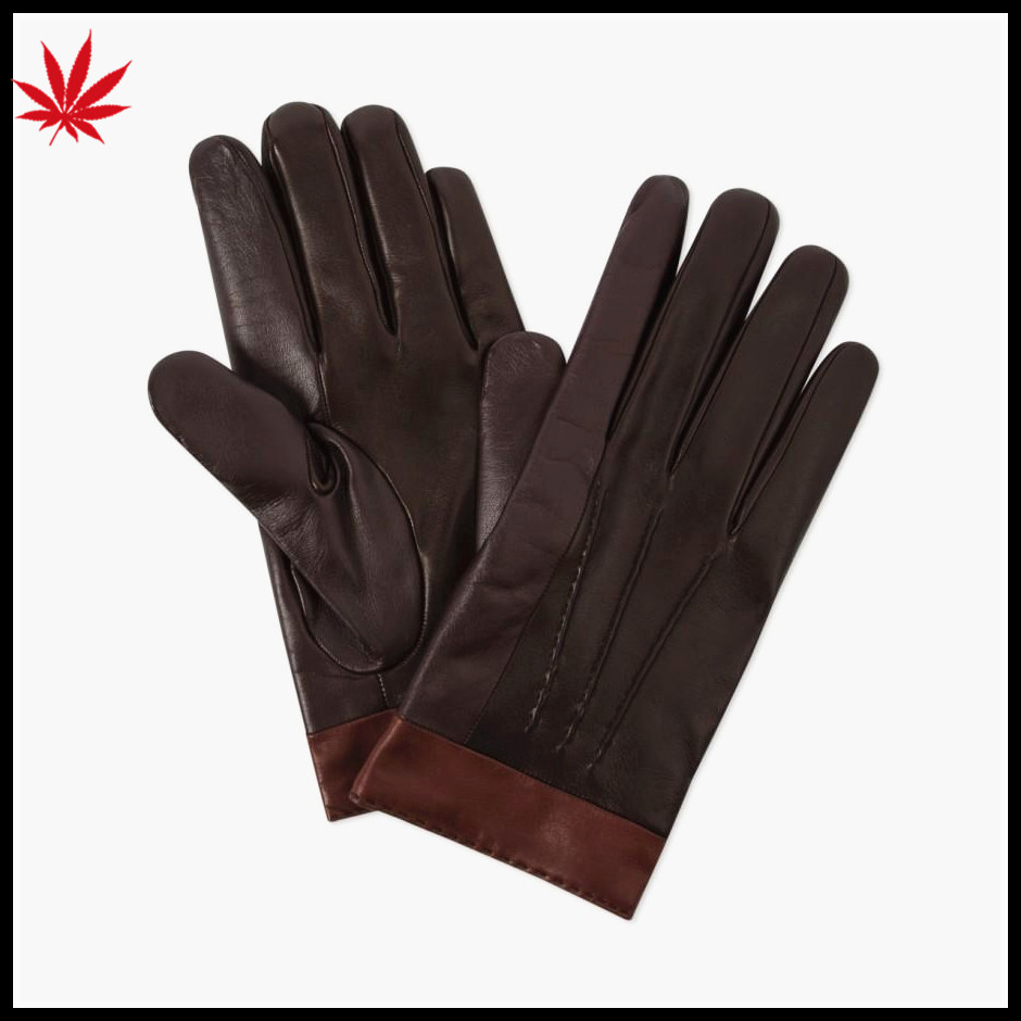 Men's gloves genuine leather winter leather driving gloves manufacturer