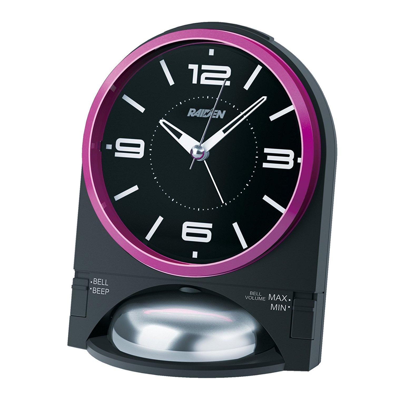SEIKO CLOCK ( Seiko clock ) RAIDEN loud analog alarm clock ( black ) NR436K