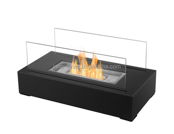 Gon Sale Glass Table Accessories Mini Fireplace 2 Side Back To