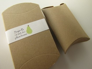 Brown Kraft Paper Pillow Box for packaging
