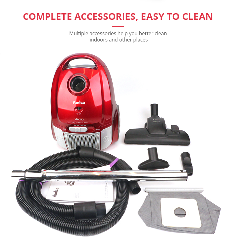 E.LUO Wet and dry bagged canister cyclonic vacuum cleaner