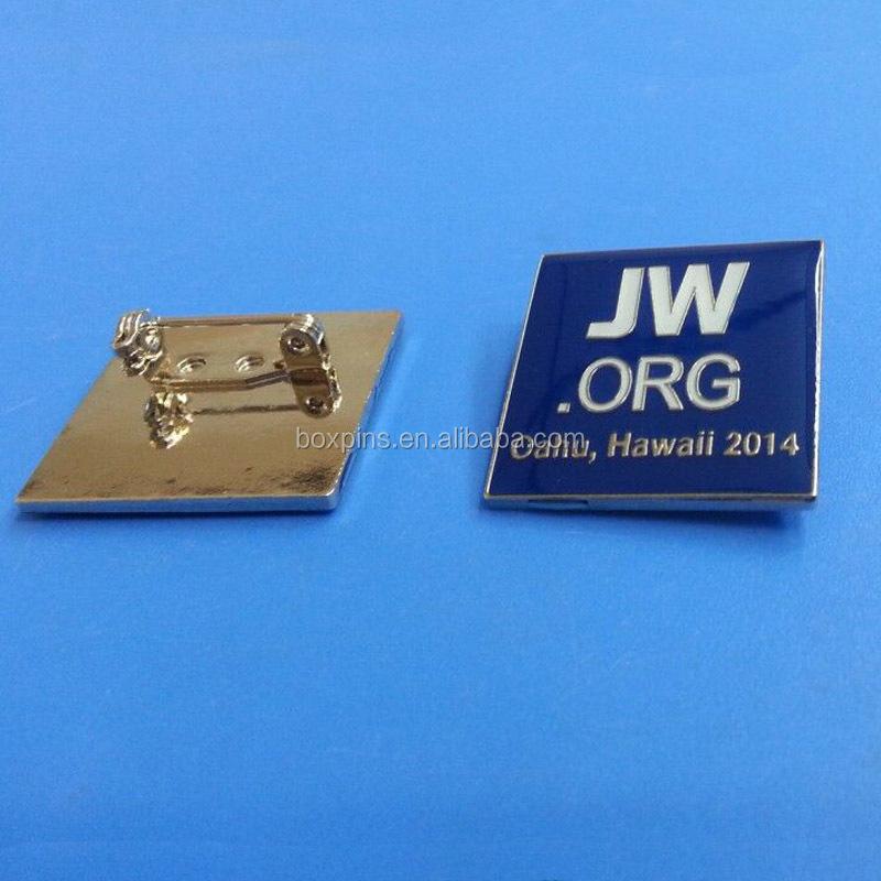 Jw Org Religious Square Shape Lapel Pin Metal Label Pin