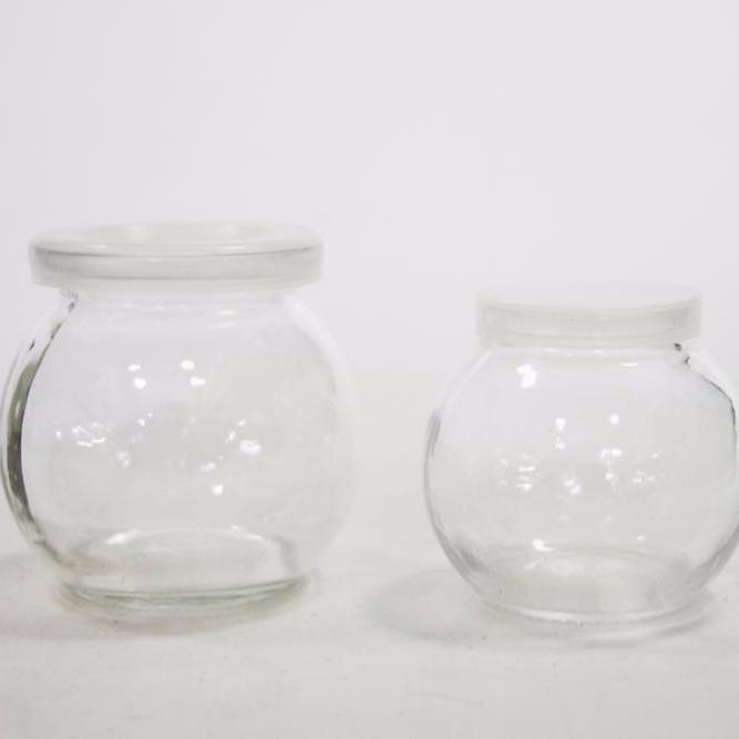 The Square Glass Yogurt Jars,Pudding Jars with cork lids Dessert Glass j.. New