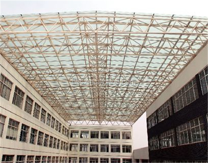 LOW-E Glass Steel Structure Space Frame Roof Framing