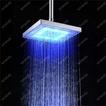 LED Small Raining Ceiling Shower Sprinkler Head With Single Blue Color