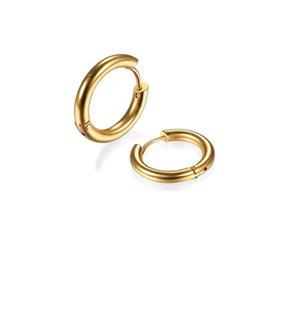 8mm/10mm/12mm/14mm/16mm/18mm/20mm Stainless Steel Gold/Black/Rose Gold Plated Huggie Hoop Earrings For Men Women