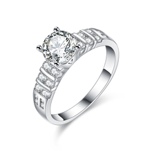 Jewelry Wholesale China Wedding Cubic Zircon Big Stone Ring Designs for Women