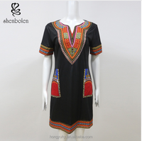 SP6614 new design african strenchy dashiki dress african clothing patterns from Hongyu Apparel company wholesale only
