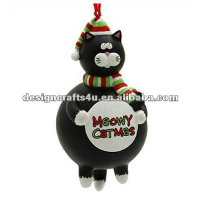 Resin Hanging Cat Tree Ornament