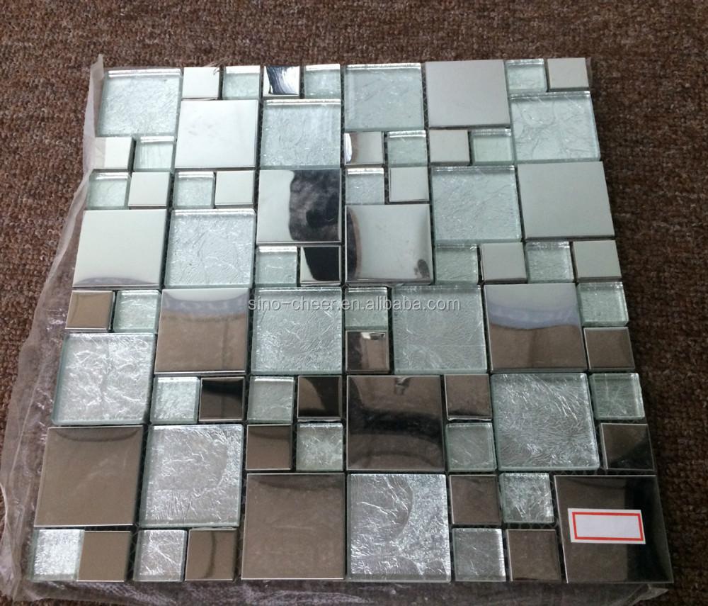 Electric Light Iridescent Glass Mosaic Mixed Man-like Pattern ...