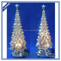 Acrylic Material Christmas Tree With Lr44 Button Battery And Color ...