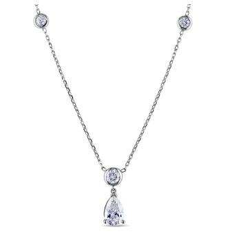 3c21e58a478a 2017 tendencia productos 925 accesorios de plata claro zirconia diamante  pesado collar