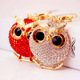 Custom promotion fashion metal owl keychain