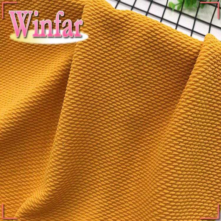 Winfar Textile Double Jersey Volltonfarbe Spandex Gestrickter Jacquard-Stoff aus Polyester