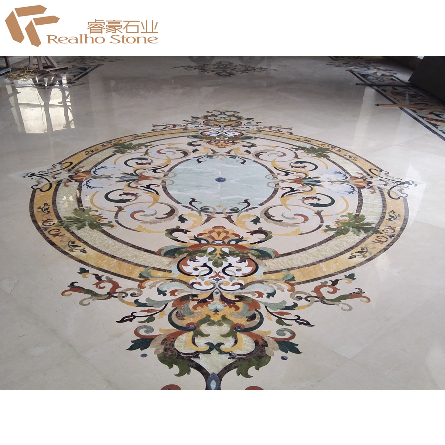 Marble Water Jet Floor Medallion Tiles Patterns For Flooring View Water Jet Medallion Realho Stone Product Details From Xiamen Realho Stone Co
