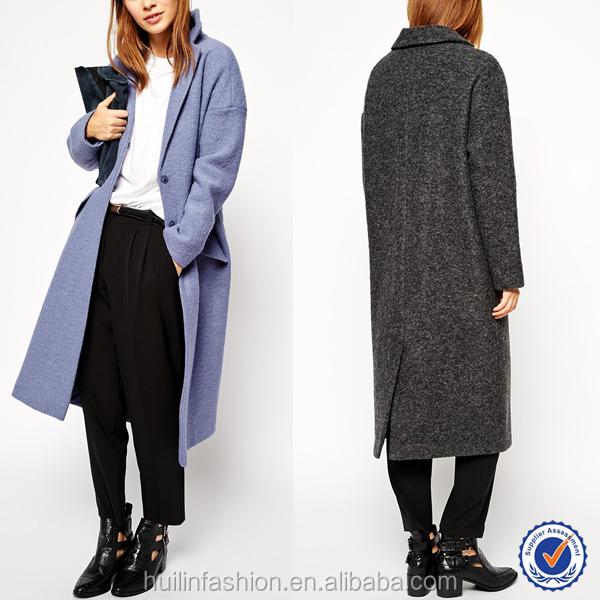 Dames Lange Winterjas.Nieuwe Aankomst Mode 2015 Oversized Revers Wol Maxi Dames Lange