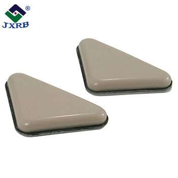 Wholesale triangle chair leg feet pads for teflon adhesive base plastic furniture glides