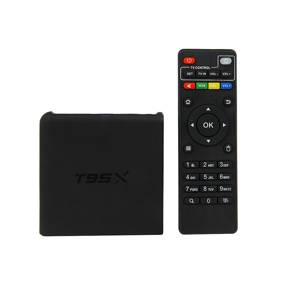 2016 android tv box t95x amlogic s905x android 6.0 cable tv set top box wifi kodi youtube netflix built in