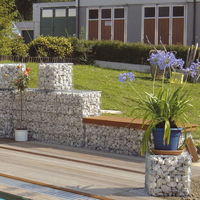 1 * 1 * 1m welded gabion retaining wall, rockwelded fence and wall