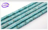 7*7 16*16 8*8 9.5*9.5mm asscher-cut diamond loose semi gemstone turquoise strand