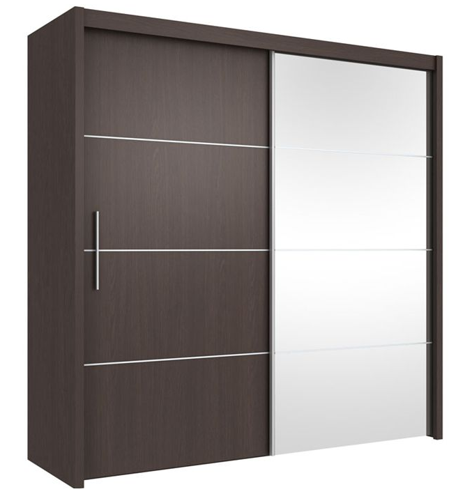 Double color wardrobe design furniture bedroom wardrobe - Designs on wardrobe ...