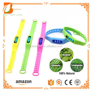 Mosquito Repellent Bracelet No Spray Pest Control Perfect for Outdoor Indoor 100% Natural Insect Repeller DEET Free Multicolor