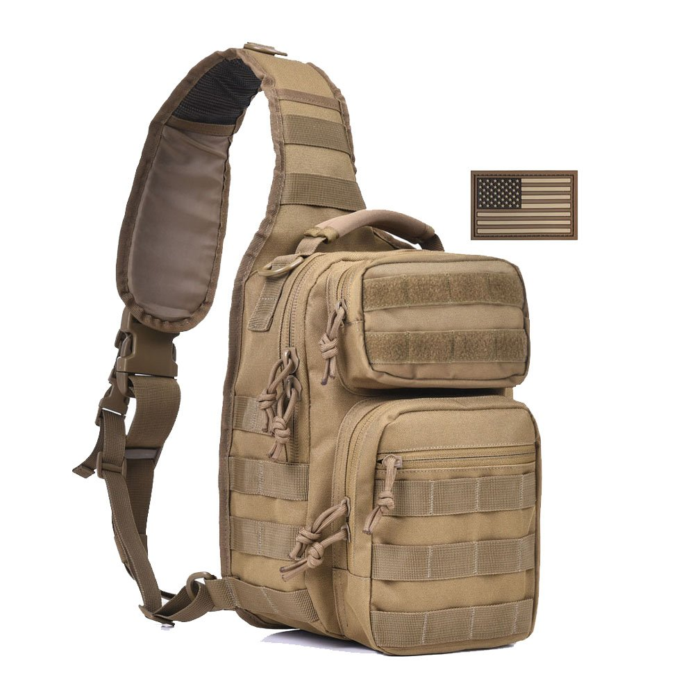 Reasonable Outdoor Tactical Bag Molle Sports Single Shoulder Cross Body Chest Pack Hiking Camping Hunting Army Military Airborne Bags Men Sports & Entertainment Climbing Bags