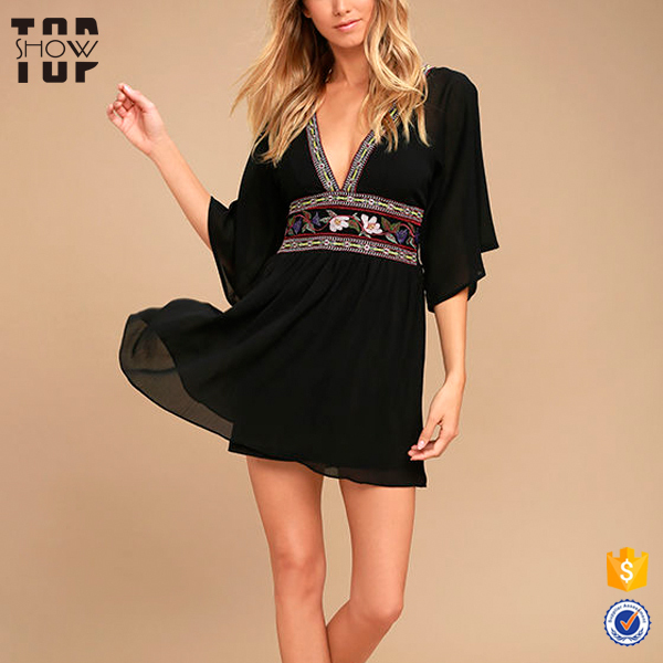 08d905b189f4 Wholesale womens embroidered dress kimono sleeves african dresses