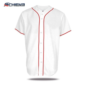 New arrival sublimation club baseball jerseys 100% polyester quick dry game baseball wear team softball shirts