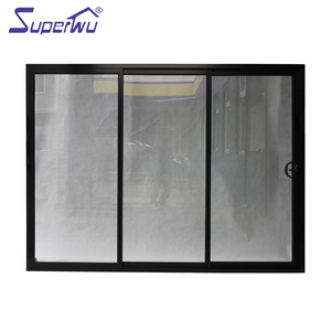 Commercial large triple tempered glass Aluminium dorma sliding door