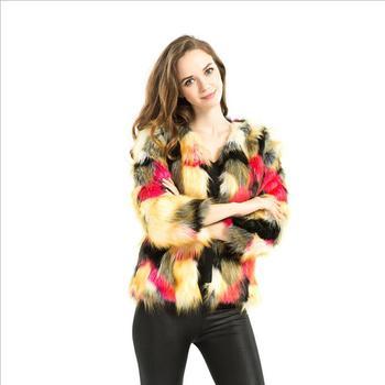 134ed239d2 K3168A 2017 Fashionable Multicolor Faux Fur Woman Fnacy Short Comfortable Fur  Coat Winter