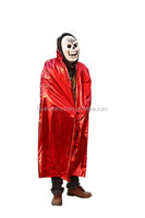 Top Selling Devil Mask And Bloody Red Mantle For Halloween Party