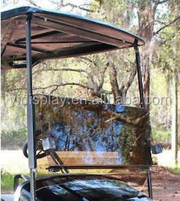 custom-made hot sale acrylic windshield cover for golf cart