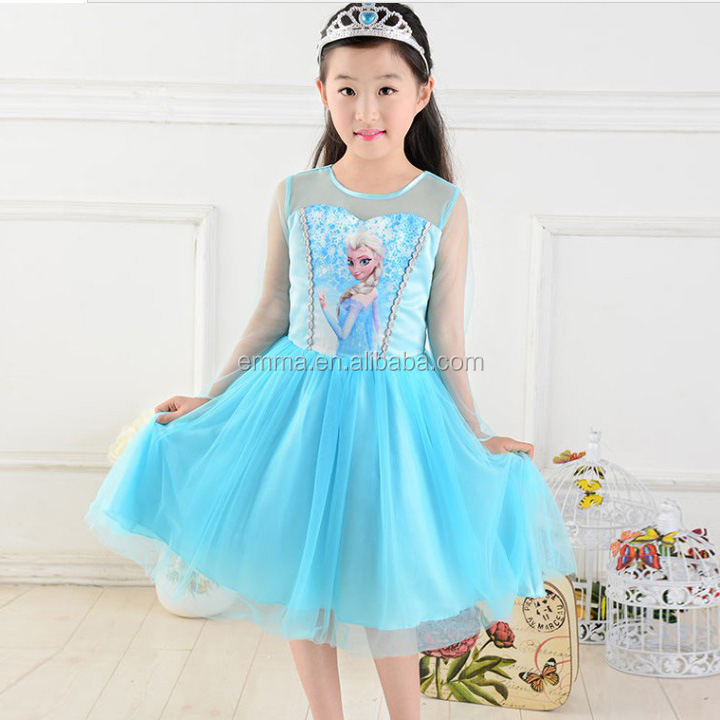 2015 High Quality Frozen Clothes For Girl Simple Girl Dresses ...