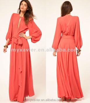 Women Long Sleeve Maxi Dress