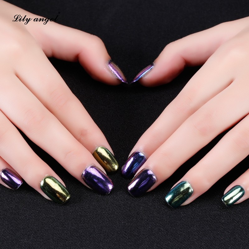 12 Diffe Color Chrome Powder Kit Nails For Nail Pigment Painting