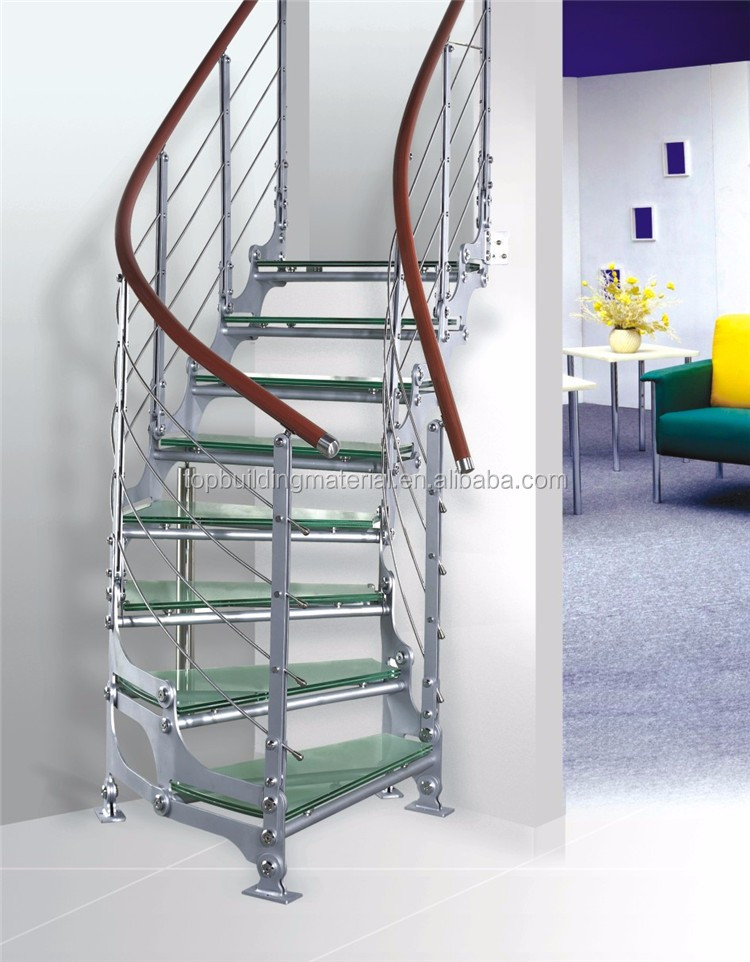Modern Indoor stairs single stringer Steel Stairs custom stairs