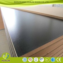 1220*2440*18mm E2 double sided melamine cherry,beech color MDF