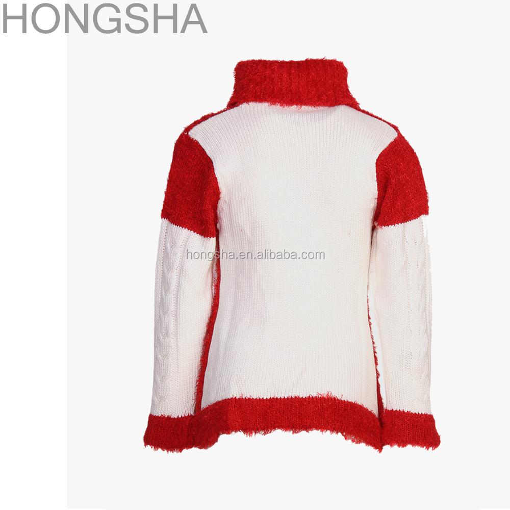 7e937b89a3fcec bambini ponticello rosso collo alto ragazze disegni maglione di lana per  bambini hss1360