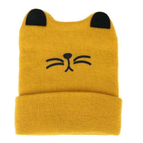 Newborn Toddler Kids Baby Girl Boy Beanie Knitted Cat Ear Cap Winter Warm Hat