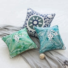 Monad Wholesale 18*18  Decorative Organic Square Tropical Throw Pillow Cover