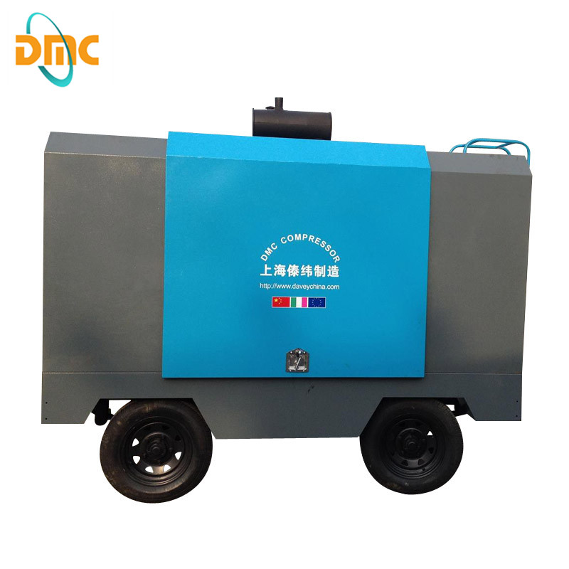 350 cfm Portable Diesel Air Compressor for Sandblasting