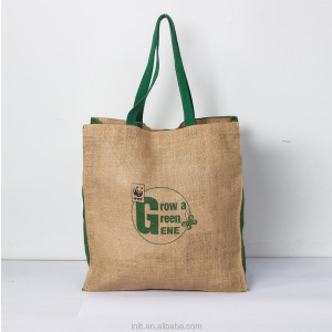 Italian matching reusable jute shopping bag