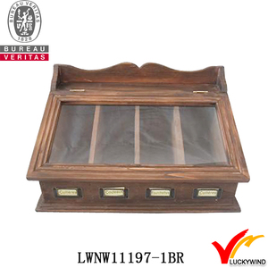 home storage vintage wooden box for cutlery