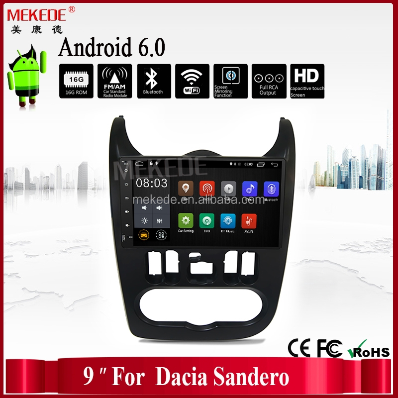Android6.0 car gps navigator multimedia player for RENAULT Dacia/Duster/Logan/Sandero with 9'' big screen radio ipod bluetooth