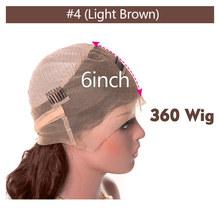 Парики из натуральных волос на кружевной основе с волнистыми волосами 150%, бразильские волосы Remy 360 кружевных фронтальных париков, 8-26 дюймов(Китай)