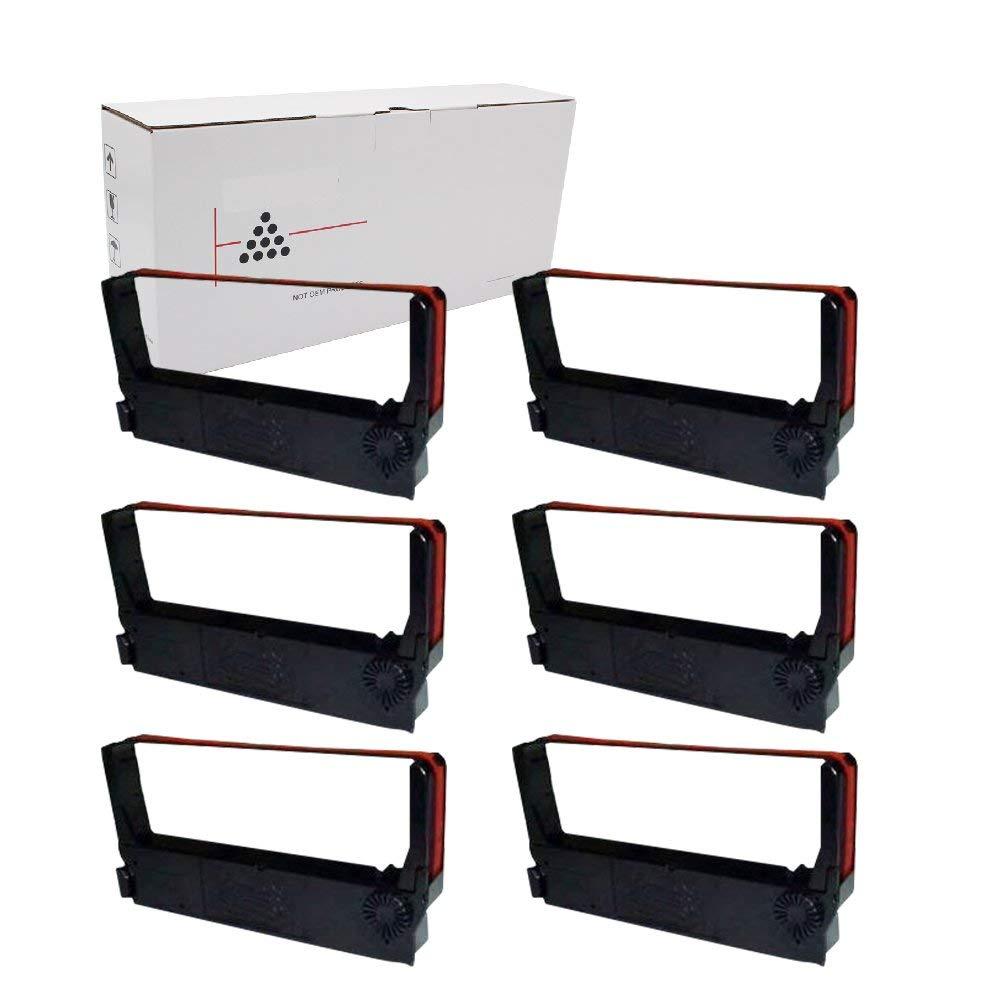 Hehua ERC-23 Compatible Black/Red POS Ribbon Cartridge Epson ERC23 ERC-23(6 Pack Black/Red)