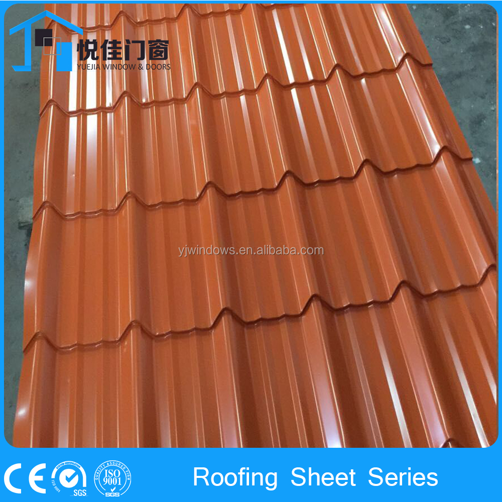 Colored metal shingle roof,roof tiles installation